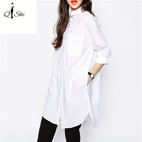Dress Agnes Hoodie Lm summer white blouses cotton shirts vintage turn collar tops work sleeve