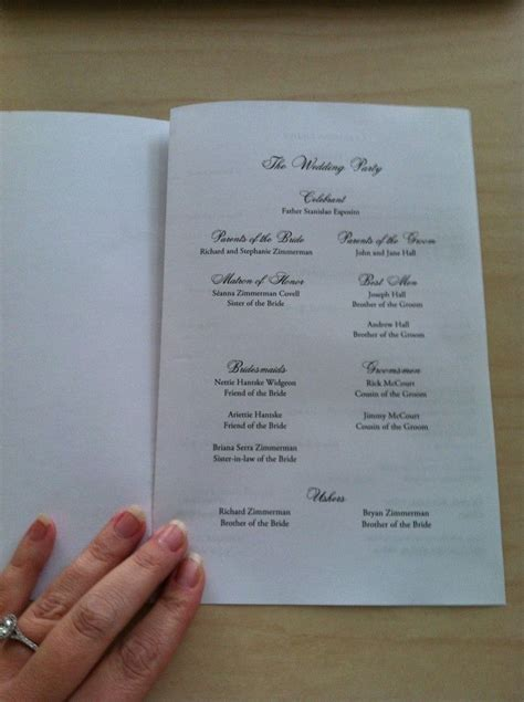 free catholic wedding program template catholic mass