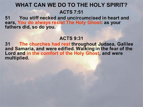 the comfort of the holy spirit the holy spirit by harold harstvedt ppt download
