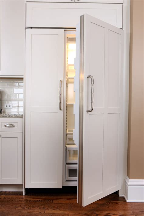 Built In Fridge Cabinet Door - panel ready refrigerator kitchen contemporary with