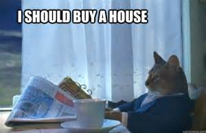 i should buy a house sophisticated cat quickmeme