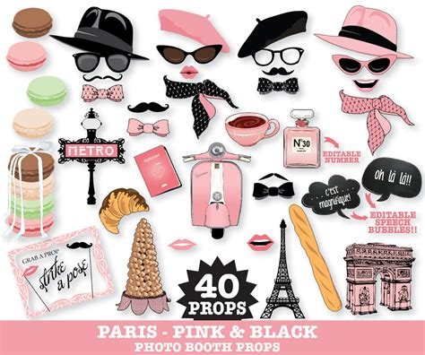 free printable paris themed photo booth props paris photo booth props paris baby shower chanel party