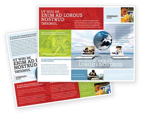 School Brochure Template Free by Education And Computer Brochure Template Design And Layout