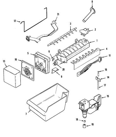 maytag refrigerator parts diagram maker diagram parts list for model mtf2155grw maytag