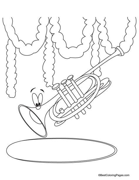 Cp Terompet simple trumpet coloring pages