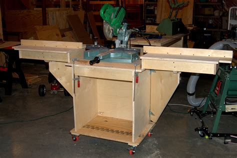 How To Build A Miter Saw Table by Rolling Miter Saw Stand By Steopa Lumberjocks