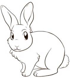 rabbit pictures to color coloring home