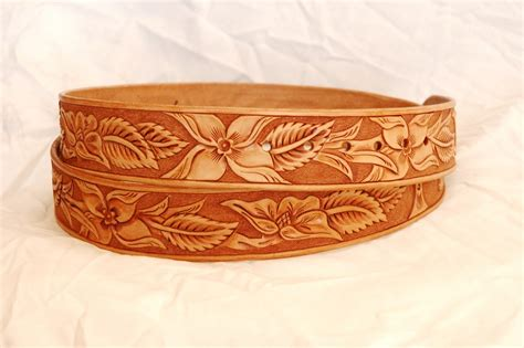 Handmade Cowboy Belts - tooled western leather belts custom belts