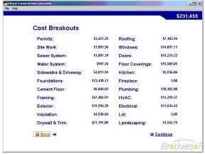cost estimator for building a house download free home construction estimator home