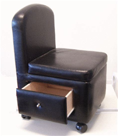 Pedicure Stool With Drawers by Stools