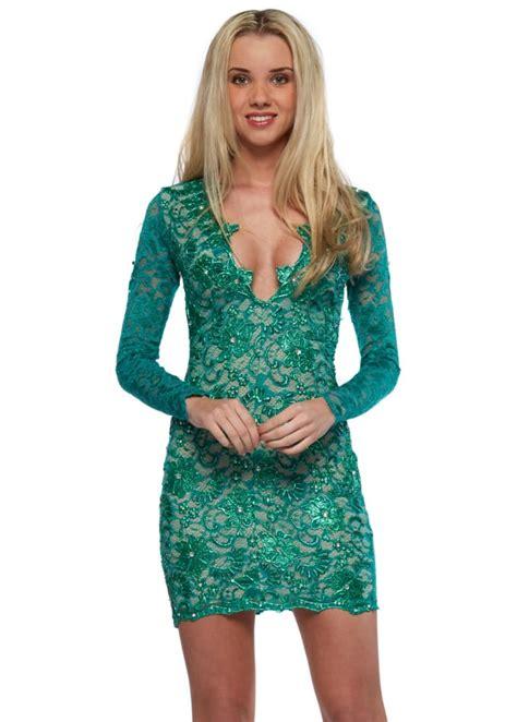 emerald green long sleeve dress holt eli dress emerald green painted lace long sleeved