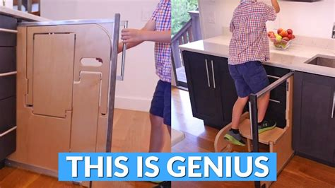 Cabinet Pull Out Step Stool by This Built In Folding Step Stool Pulls Out From Your