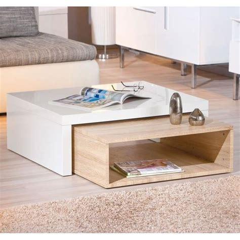 design zola table basse design zola blanche et ch 234 ne achat vente