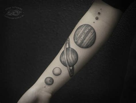 black gray planets forearm tattoo tattooimages biz