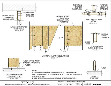 Bathroom Partition Details Dwg Stoneply Cad Drawings And Details Panel Information