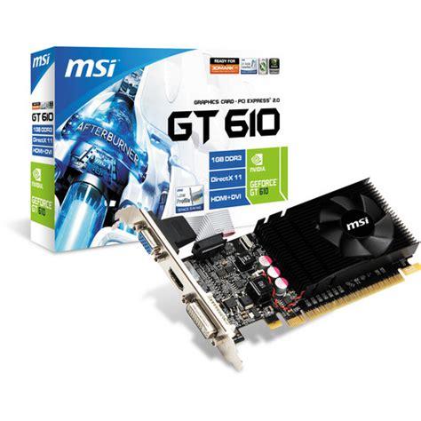 Digital Alliance Geforce Gt 610 1024mb Ddr3 64 Bit msi geforce gt 610 graphics card n610gt md1gd3 lp b h photo