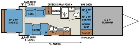 travel trailer toy hauler floor plans toy hauler travel trailer floor plans xlr nitro travel