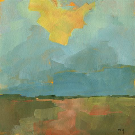 original acrylic semi abstract landscape painting breaking