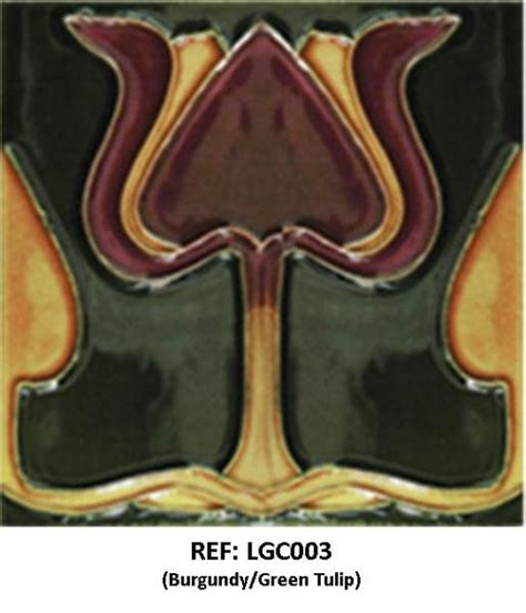 reproduction nouveau style tubelined tiles