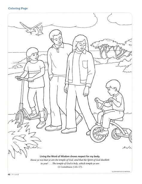 lds coloring pages word of wisdom word of wisdom coloring page coloring pages