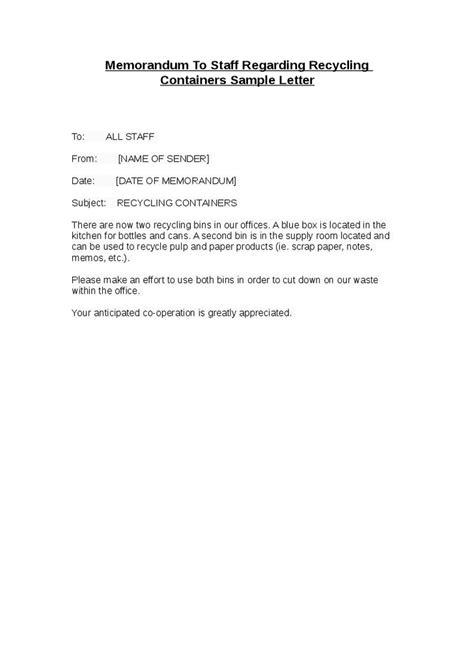 Memo Format Letter exle of office memorandum letter best template
