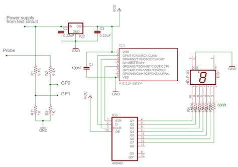 probe circuit diagram digital logic probe schematic diagram logic probe tester