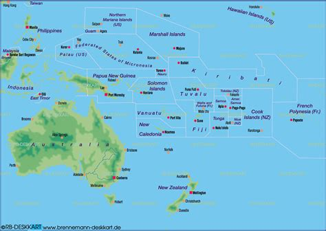 australia pacific map map of australia pacific general map region of the