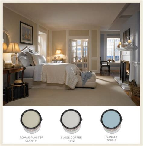 behr bedroom colors this serene bedroom features behr s swiss coffee a