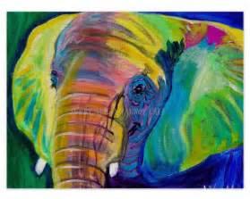 colorful elephant colorful elephant animal print 20x30 from dawgpainter