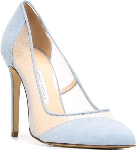 Light Blue Suede Heels by Feminine Teresa Palmer In Bionda Castana Bay Pumps