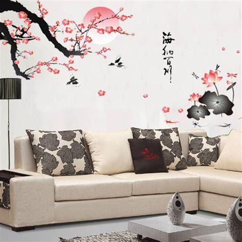 Wall Sticker Di Bekasi aliexpress buy plum blossom lotus flowers removable