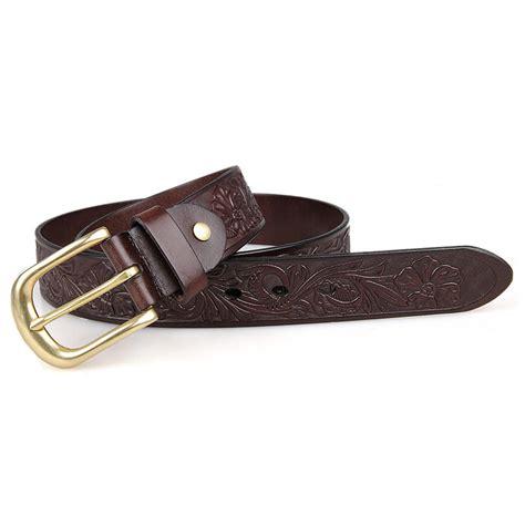 b012q trendy unisex dressed belt bright brown leather belt