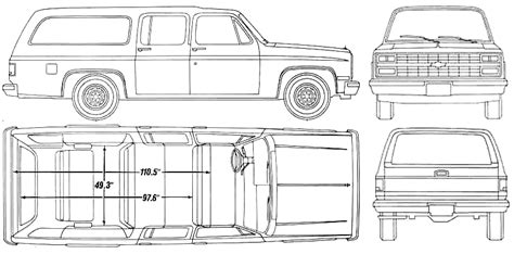 interior dimensions 1990 chevy suburban facts specs and statistics