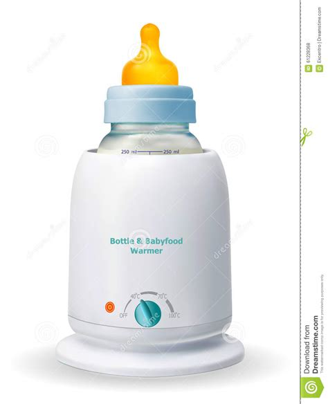 Baby Safe And Food Warmer bottle babyfood warmer stock vector image 61228368