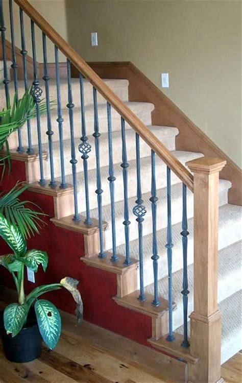 wrought iron and wood banisters wood railing with wrought iron balusters traditional staircase salt lake city