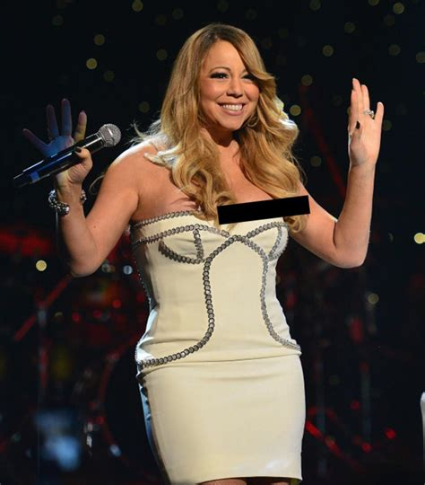 wardrobe malfunctions mariah carey suffers wardrobe malfunction ny daily news