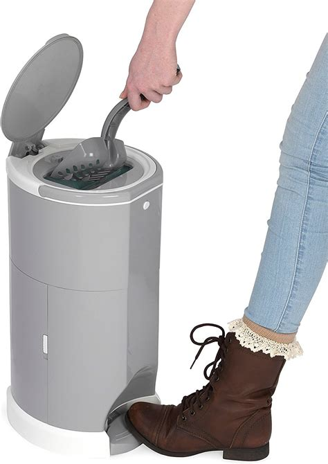 Cat Tembok Avian Taupe 332 litter ch premium odor free cat litter waste disposal system taupe chewy