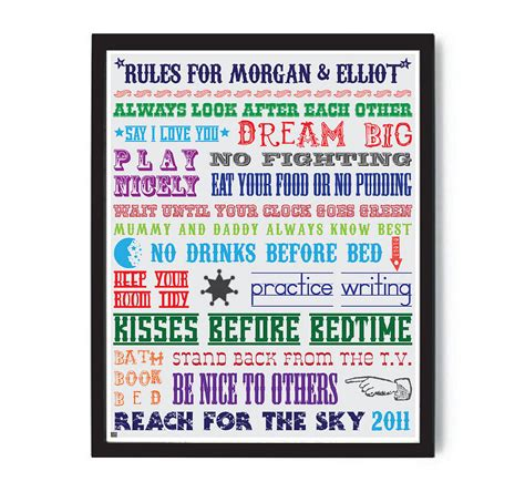 house rules design expert personalised family house rules print more than words