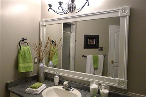diy framed bathroom mirror third way to boost your home value