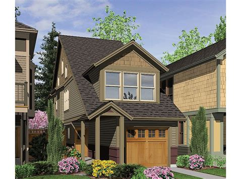narrow lot homes zero lot line house plan 034h 0160 munising house ideas house plans zero and