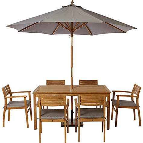 homebase wooden patio table and chairs malmo 6 seater rectangular teak garden table