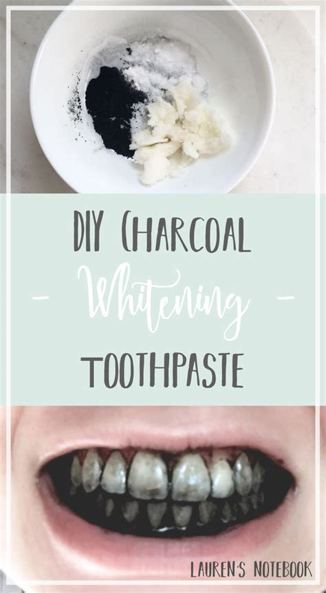 diy whitening charcoal toothpaste diy pinterest