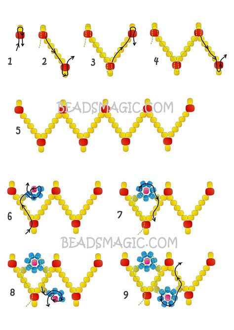 beaded flower bracelet patterns free pattern for beaded bracelet flowers magic