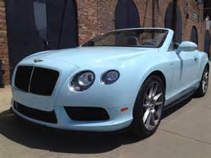 Baby Blue Bentley Convertible Driven Bentley Continental Gt V8 S Convertible Ny Daily