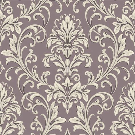 wallpaper grey and purple purple and grey feathered damask wallpaper