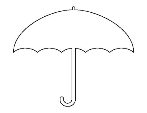 umbrella template for preschool free clipart