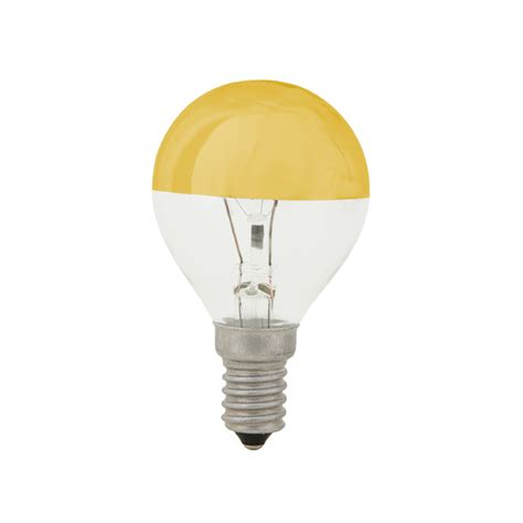 Lu Emergency 40 Watt E14 Kopfverspiegelte Tropfen Gl 252 Hle Gold 25 Watt Oder 40 Watt Deutsche Leuchten De
