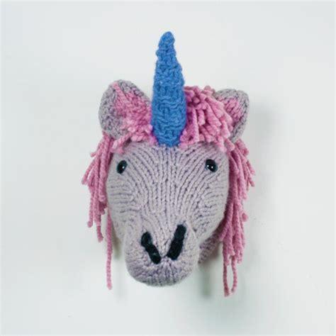 unicorn knitting pattern a kit for knitting your own unicorn wall mount
