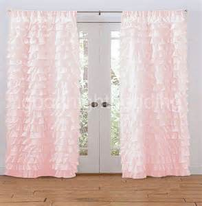 Ruffled Pink Curtains Contemporary Bedroom Design With Pink Ruffled Curtains On And Solid Wood Grain Floor