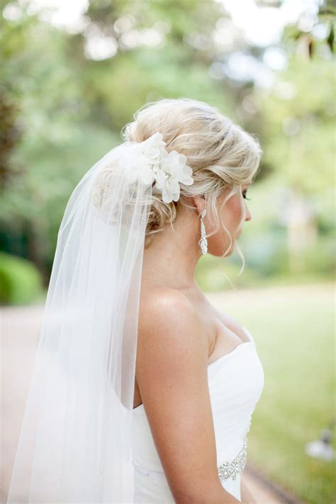 Wedding Updos With Veil And Flower by 144 Best Images About Bridal Veils Headpieces On